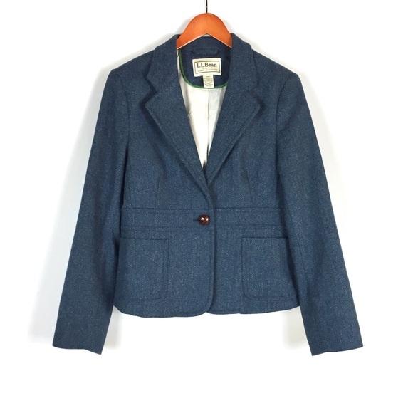 L.L. Bean Jackets & Blazers - L.L. Bean women's blue wool blazer size 16
